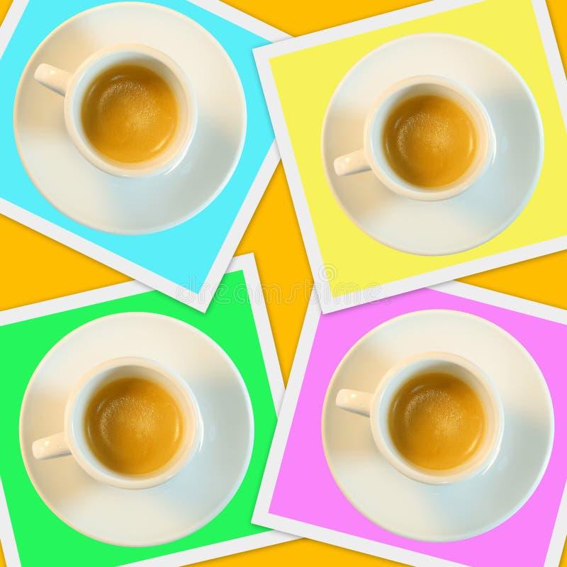 Tazze di caffè variopinte fotografia stock