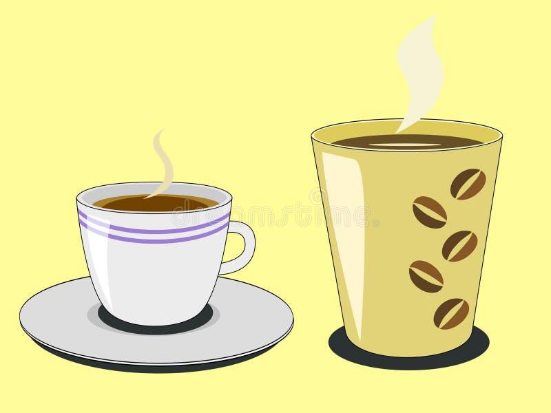 Tazze di Coffe illustrazione vettoriale