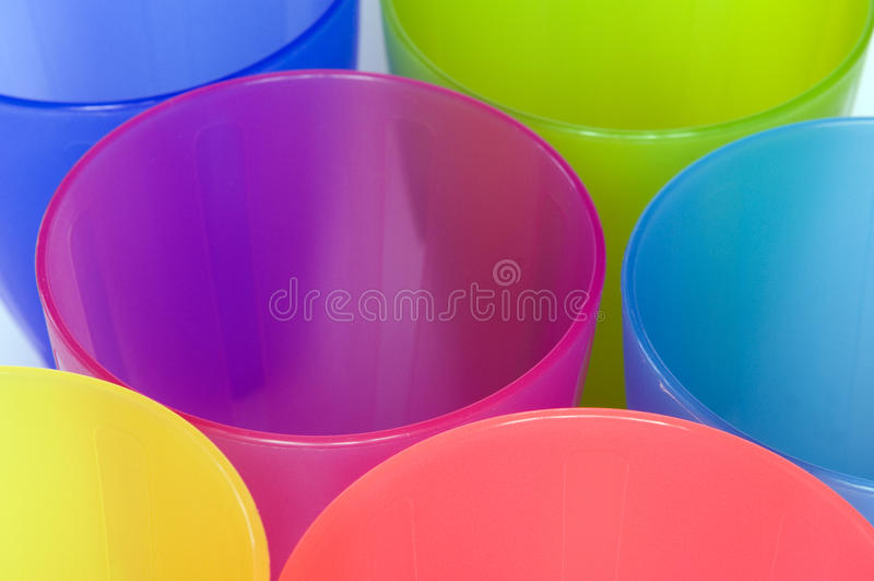 Tazze di plastica fotografia stock libera da diritti