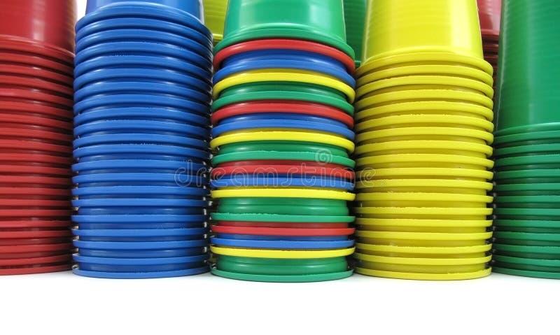 Tazze di plastica immagini stock libere da diritti