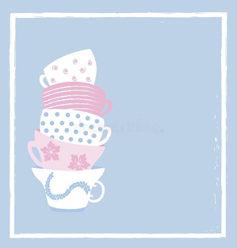 Tazze di tè royalty illustrazione gratis