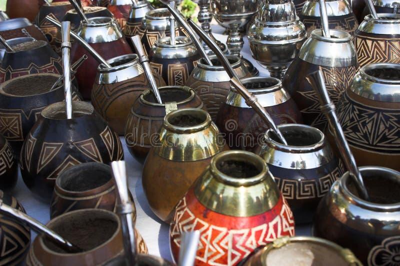 Tazze di tè del compagno immagine stock libera da diritti