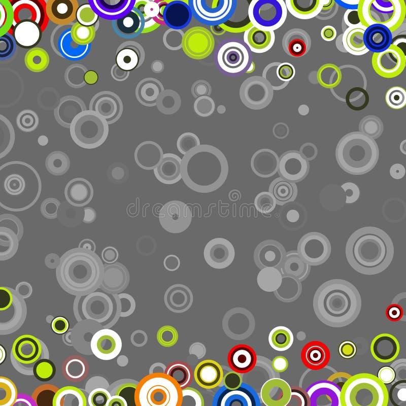 TB retro dos círculos ilustração royalty free