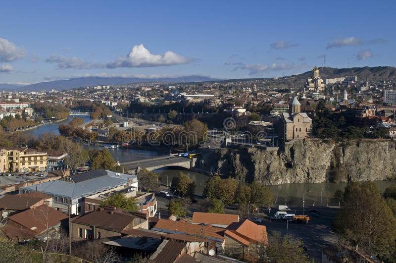 Download Tbilisi stock photo. Image of beautiful, overview, panorama - 23538298