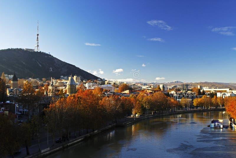 Tbilisi autumn stock image