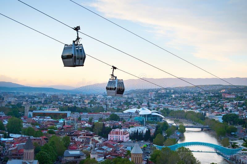 Tbilisi bergbana, Georgia fotografering för bildbyråer