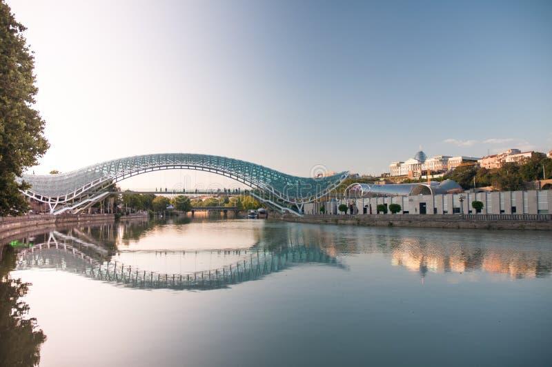 Tbilisi bridge stock image