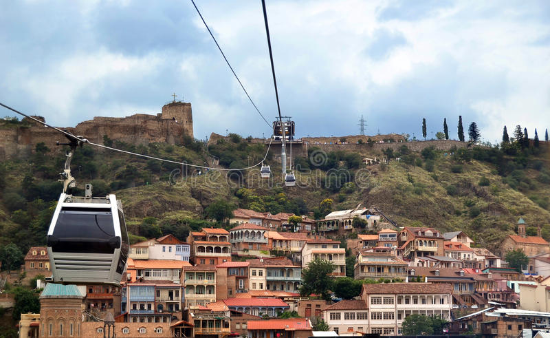 How To Buy A Car In Tbilisi Georgia: Tbilisi From Cable Car Stock Photo