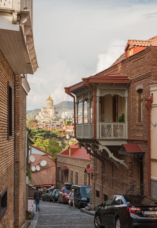Tbilisi, calle vieja de la ciudad fotografía de archivo libre de regalías