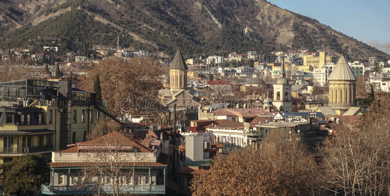 Tbilisi, the capital of Georgia.  royalty free stock photography