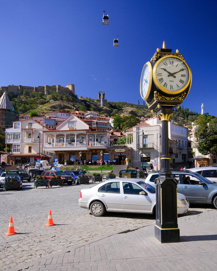 Tbilisi. Capital of Georgia. Colorful architecture of the old city royalty free stock images