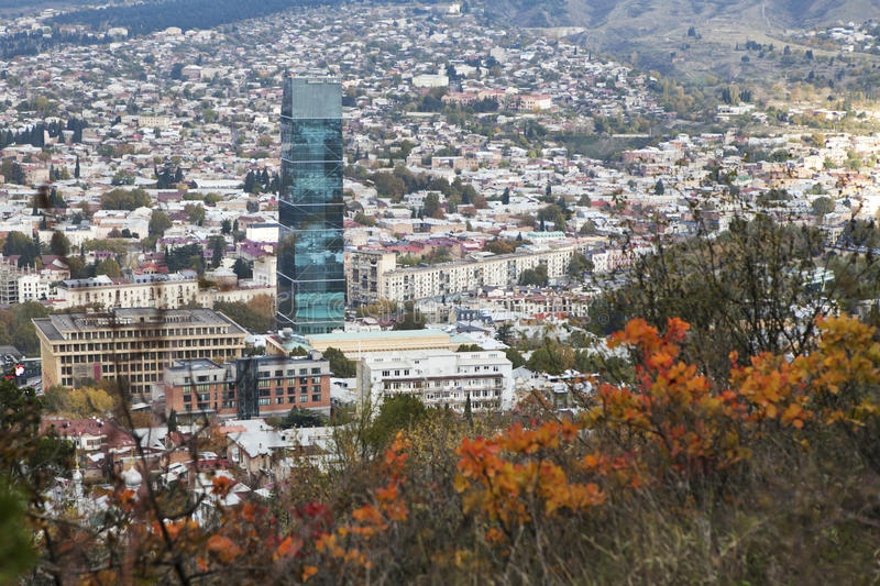 Tbilisi Tskneti Mountain Villa Tbilisi City Georgia: Tbilisi City Center Aerial View From The Mountain