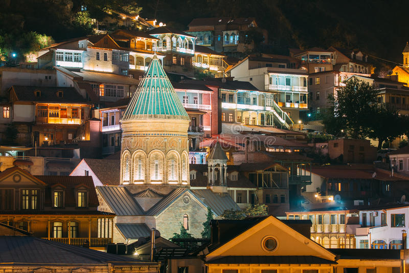 Tbilisi, Geórgia Saint George Armenian Cathedral de Tbilisi Igreja imagens de stock