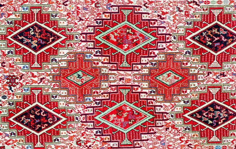 TBILISI, GEORGIË, MAART 2017: - Kleurrijk tapijt met met beauti stock foto