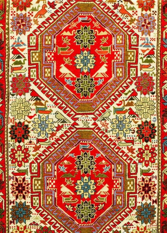 TBILISI, GEORGIË, MAART 2017: - Kleurrijk tapijt met met beauti royalty-vrije stock foto