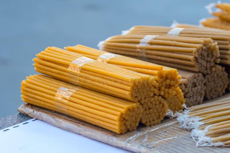 Natural wax candles stock photo. Image of honeycombed ...