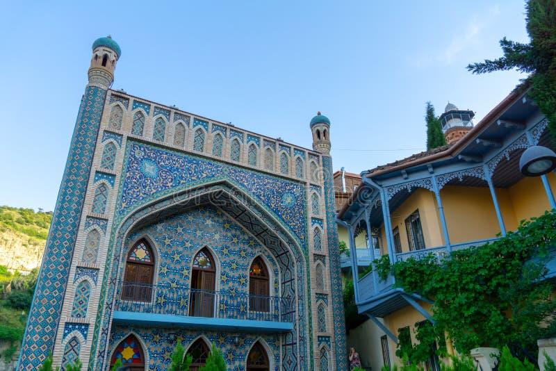 TBILISI, GEORGIA - JUNE 02, 2019: Exterior of public bath in Tbilisi Georgia a example of islamic architectural style stock photography