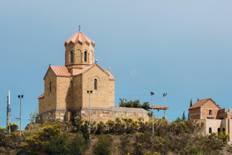 Tbilisi, Georgia Monasterio de Tabor de la transformación hilltop fotos de archivo libres de regalías