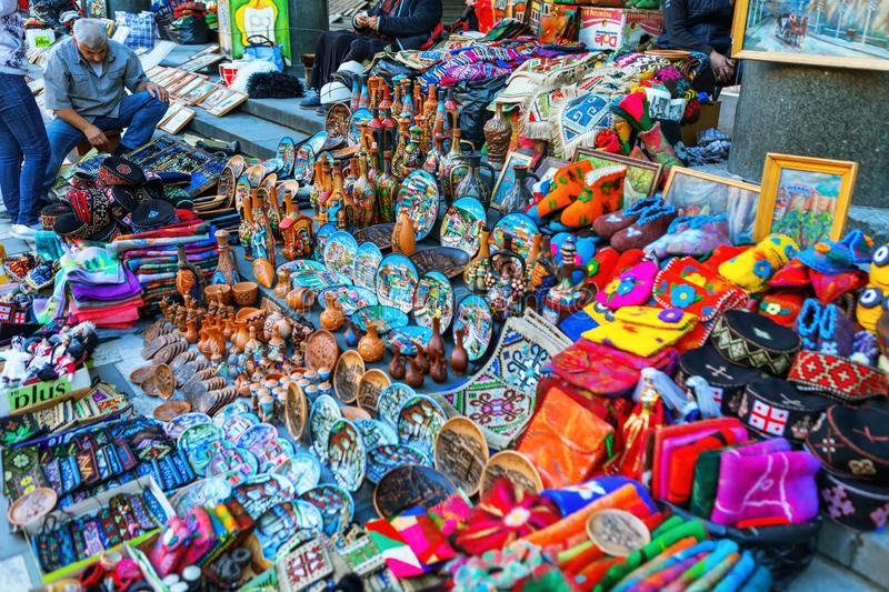 Georgia Tbilisi Flea Market Stock Photos Georgia Tbilisi: Dry Bridge Flea Market In Tbilisi Sells Jewelry, Silver