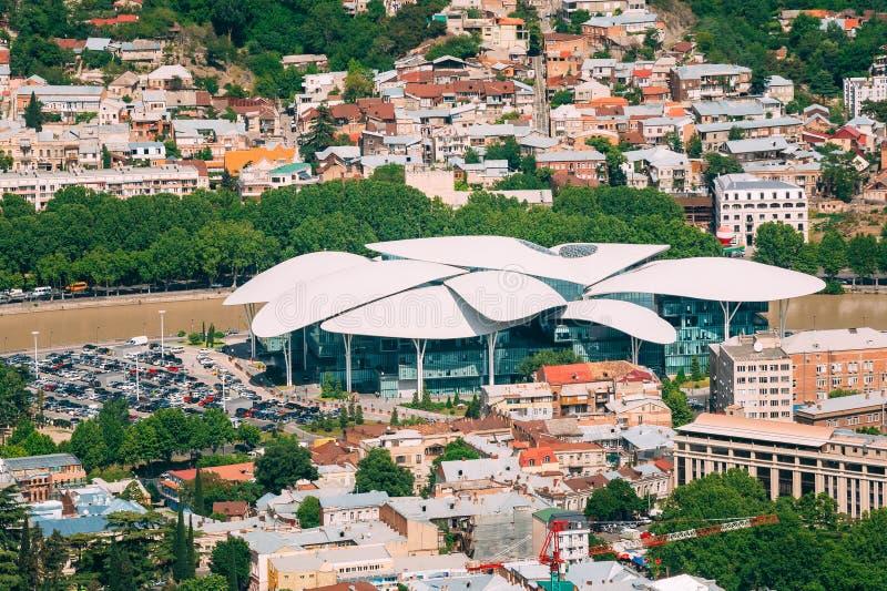 Tbilisi Georgia Vista aerea di giustizia House, servizio pubblico ha fotografia stock libera da diritti
