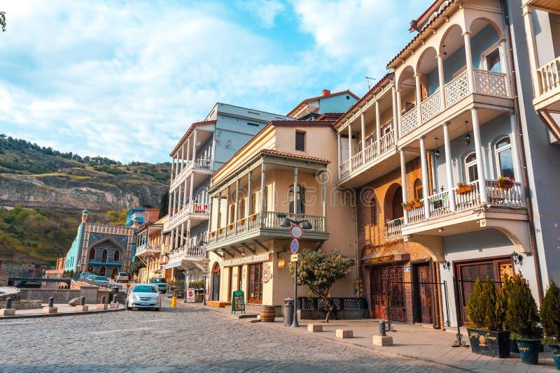 13 04 2018 Tbilisi, la Géorgie - architecture de la vieille ville de la TB photo libre de droits