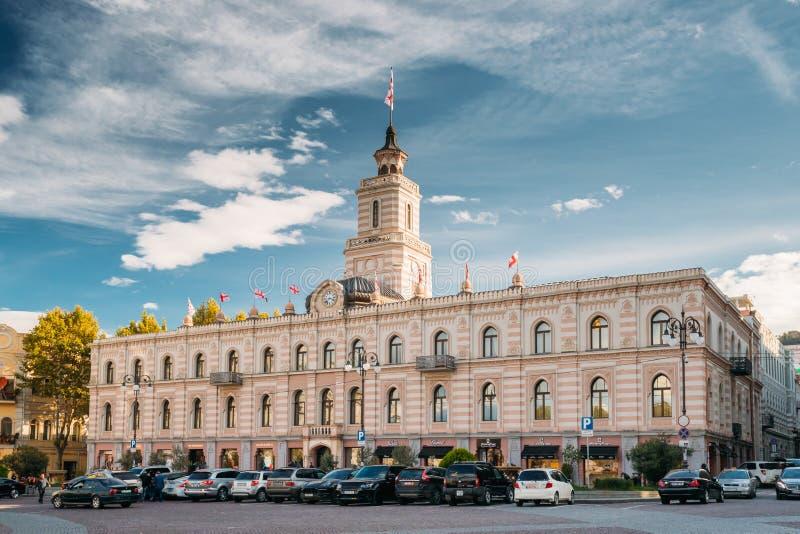 Tbilisi, la Géorgie, l'Eurasie Centre de la ville de Hall In Freedom Square In de ville de Tbilisi photographie stock