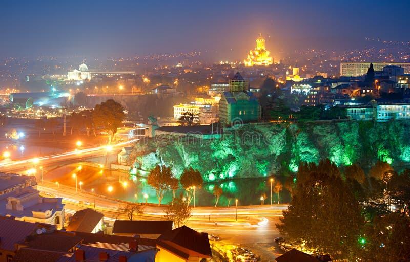Tbilisi linia horyzontu fotografia royalty free