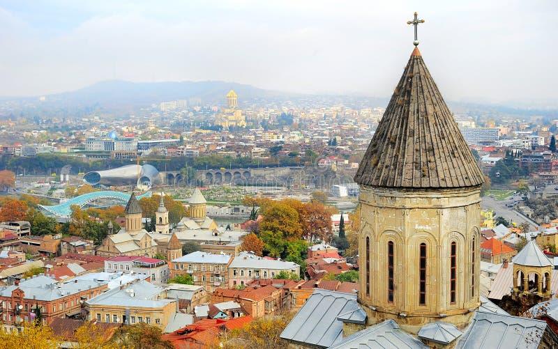 Tbilisi linia horyzontu zdjęcie royalty free
