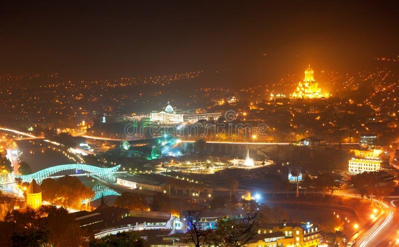 Tbilisi linia horyzontu obraz royalty free