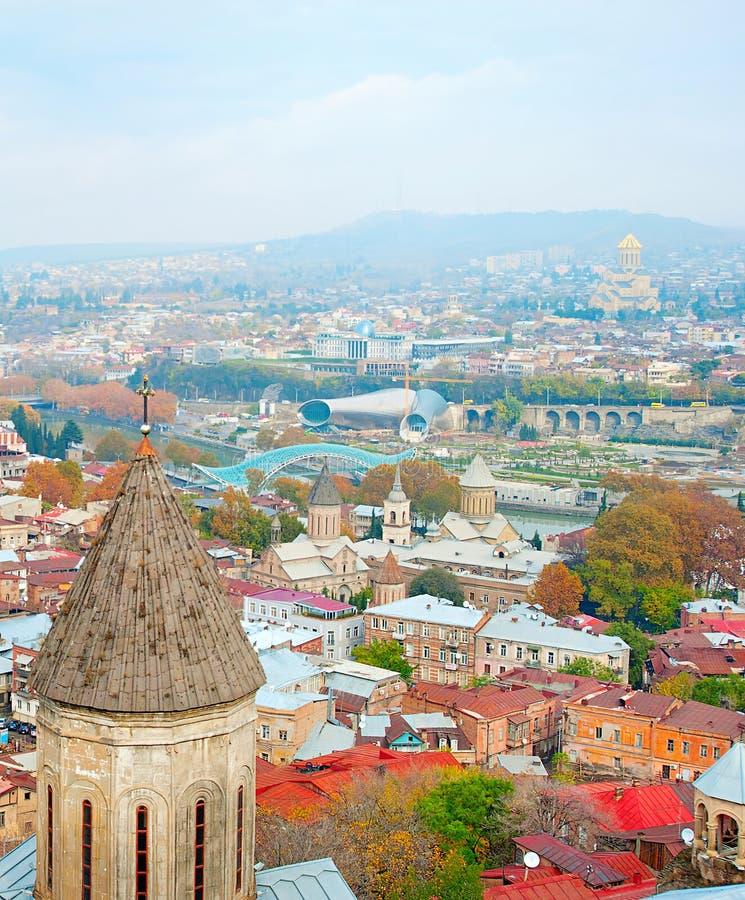 Tbilisi linia horyzontu obrazy royalty free