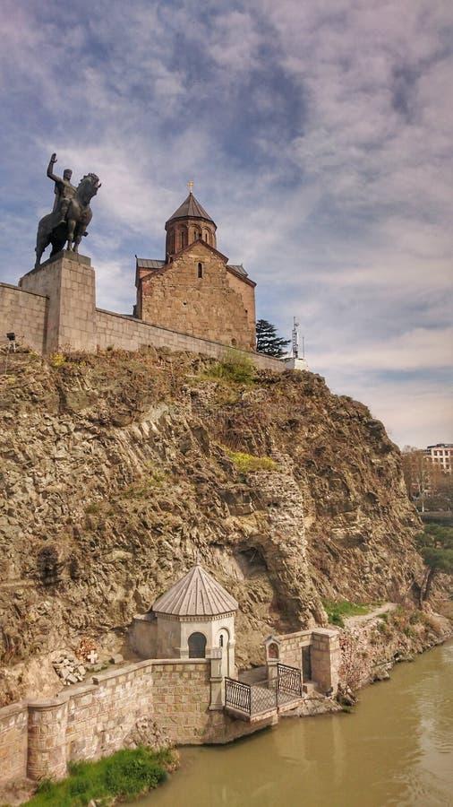 Tbilisi Metekhi royaltyfri bild