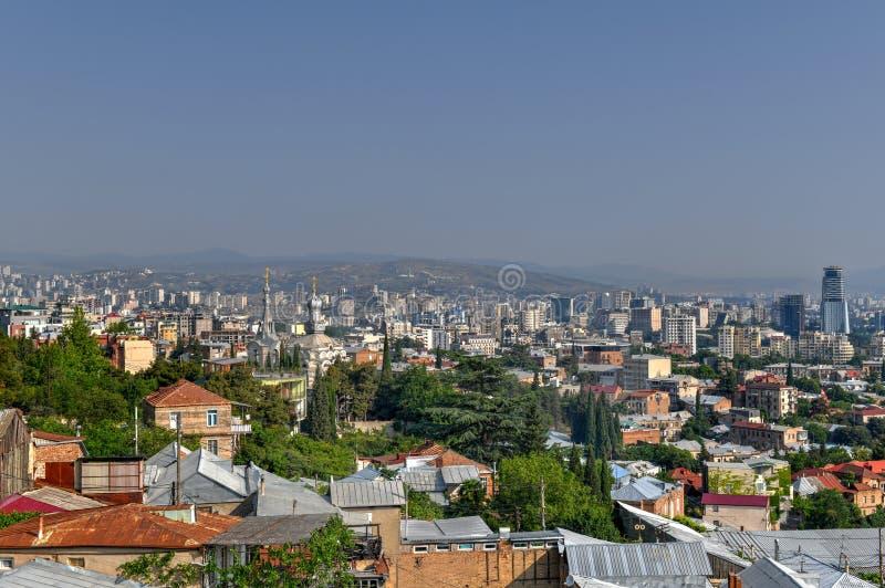 Tbilisi miasta linia horyzontu - Gruzja obraz royalty free