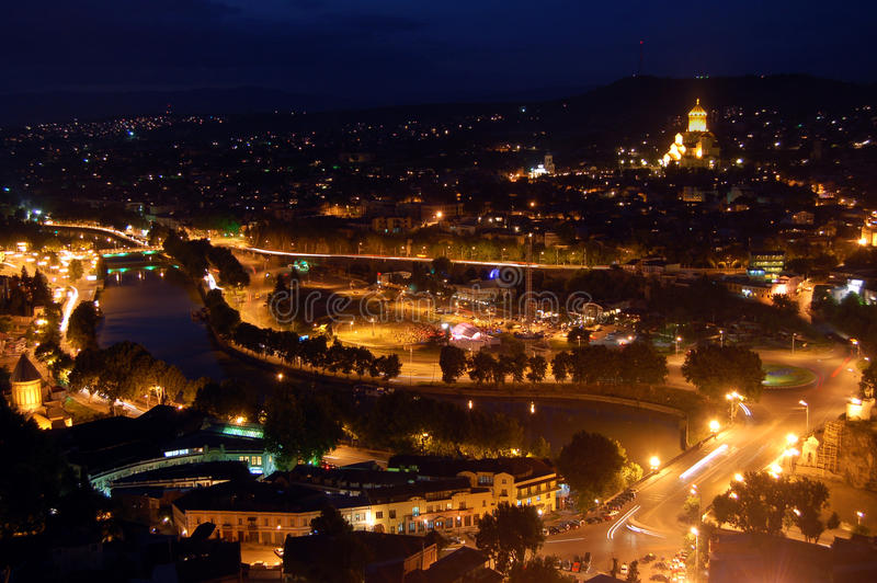Download Tbilisi at night stock image. Image of evening, beautiful - 18218457