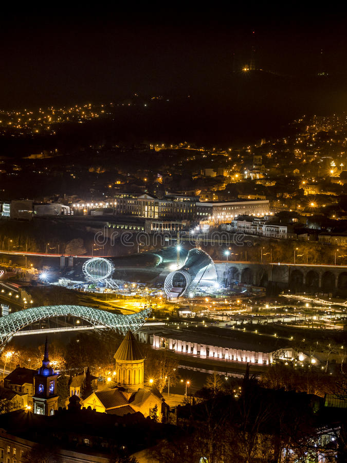 Download Tbilisi by night stock image. Image of tbilisi, night - 28728809