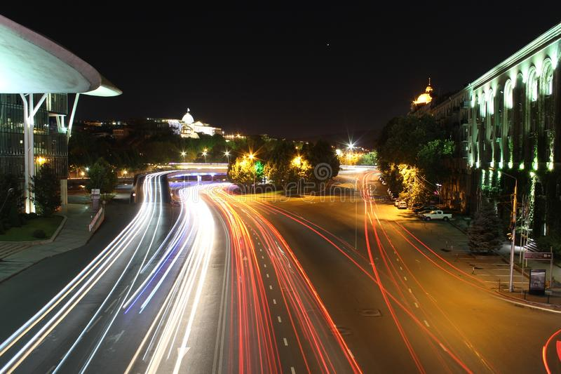 Tbilisi by night stock photography