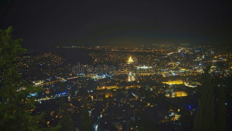 Tbilisi. Night Tbilisi seen fron Mtatsminda royalty free stock photography