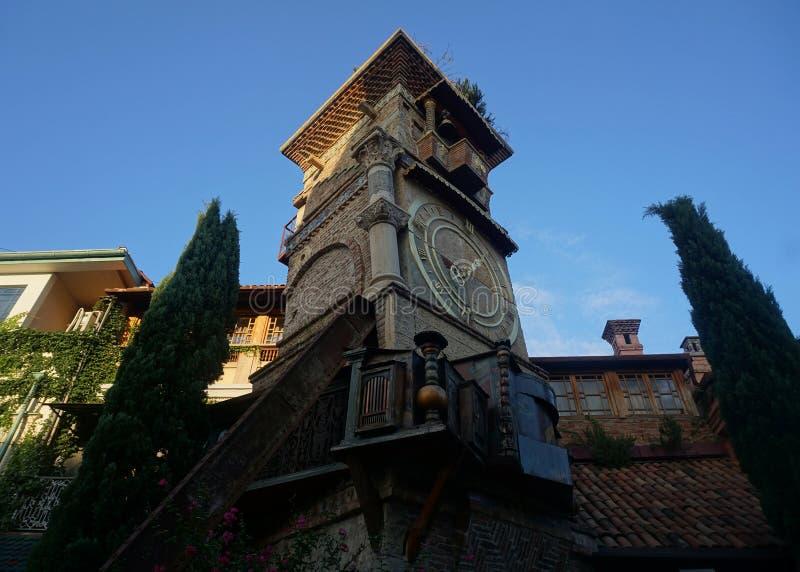 Tbilisi Oparty Nieociosany Zegarowy wierza obraz stock
