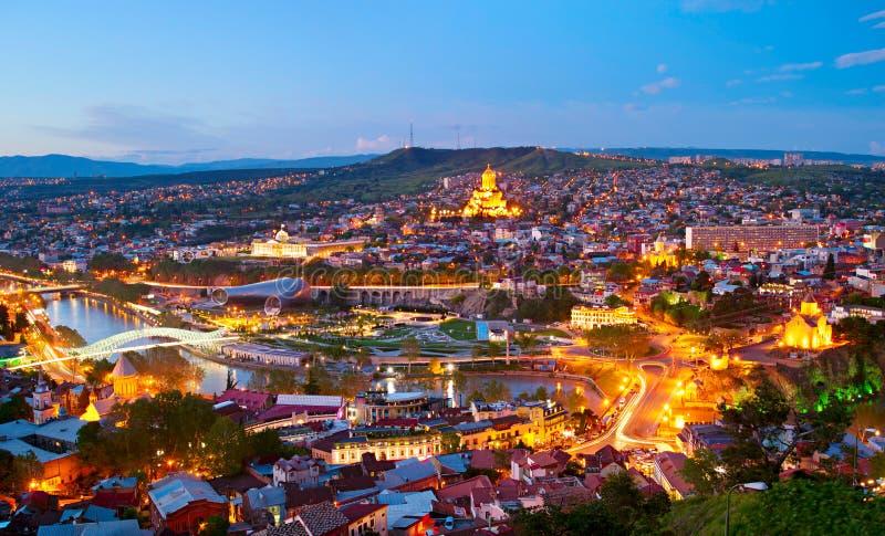 Tbilisi panorama, Gruzja obraz royalty free