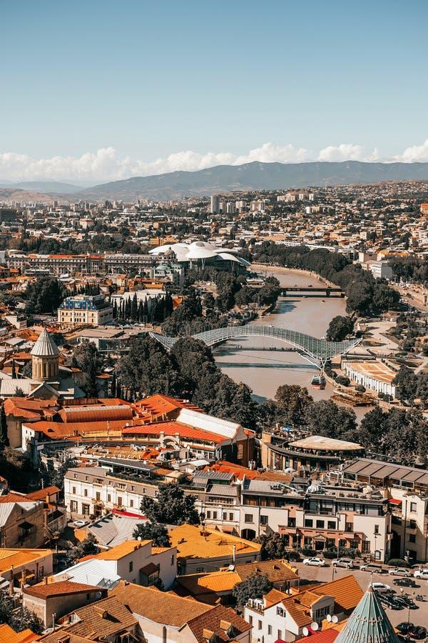 Tbilisi panoramasikt royaltyfri bild