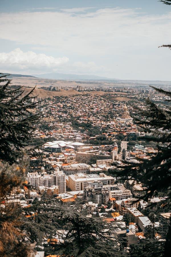 Tbilisi panoramasikt arkivfoton