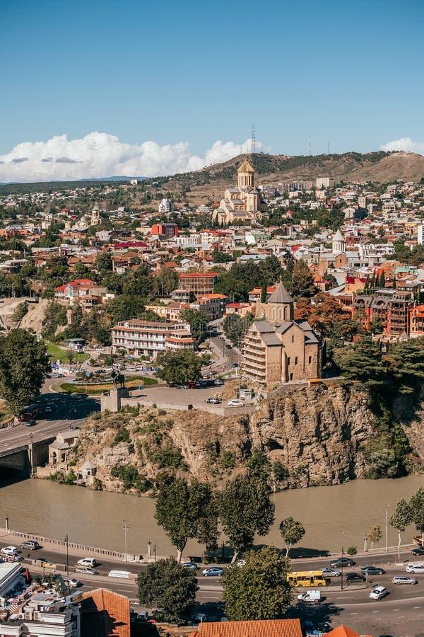 Tbilisi panoramasikt royaltyfria bilder