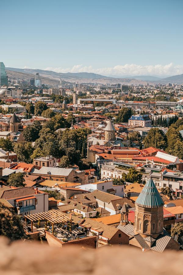 Tbilisi panoramasikt royaltyfri foto