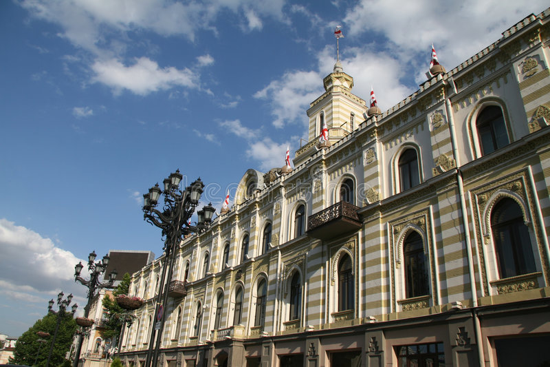 Tbilisi ratusz. obraz stock