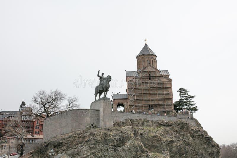 Tbilisi in spring stock photos