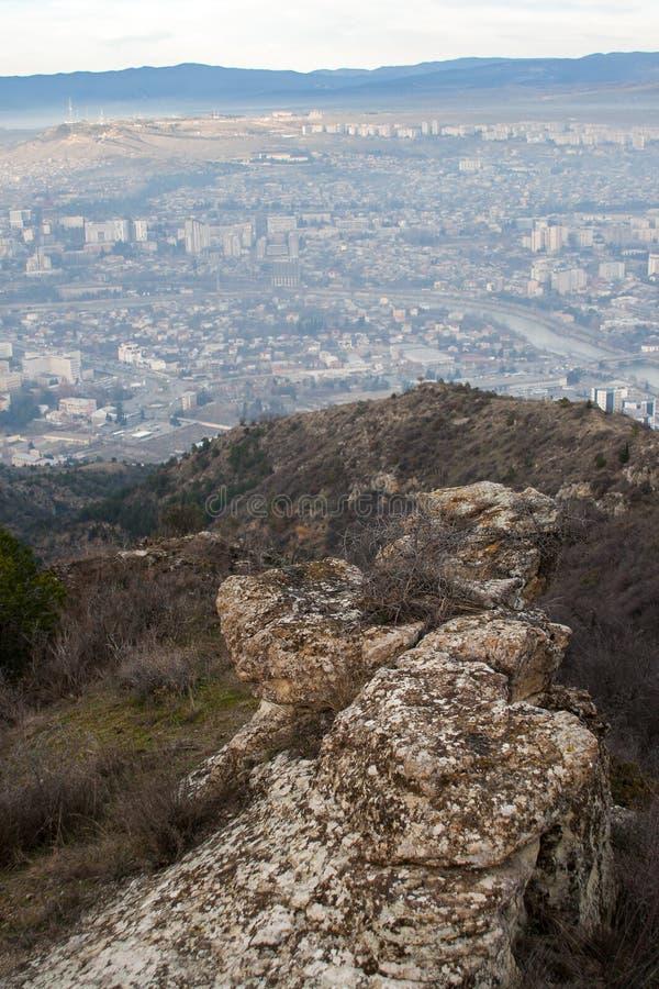 Tbilisi wzgórza fotografia royalty free