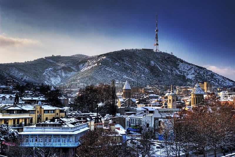 tbilisi zima fotografia stock