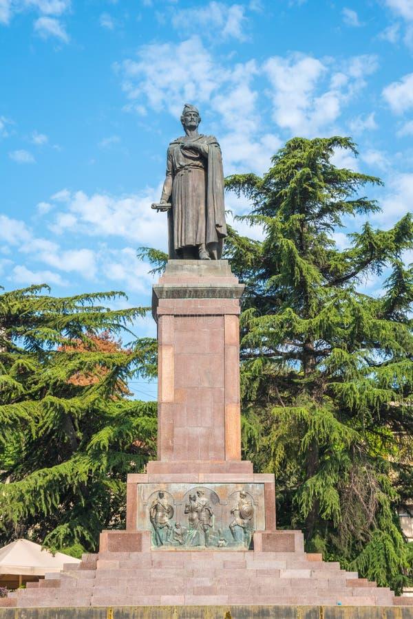 Tbilsi,乔治亚- 30 08 2018年:12世纪格鲁吉亚po雕象  免版税库存照片