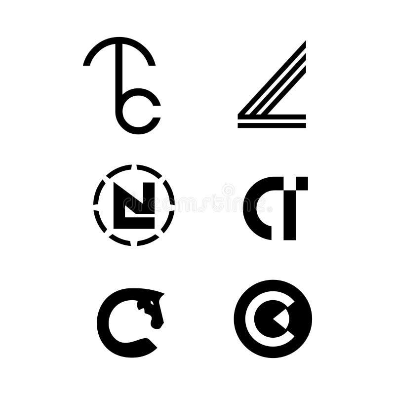 TC伞L抽象线翼LN在消极空间头人的C金刚石商标传染媒介的一匹抽象顶头马 皇族释放例证