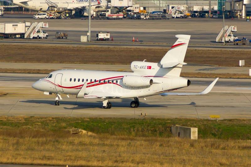 Tc-AKE Privé Jet Plane stock foto