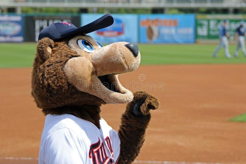 TC - Das Maskottchen der Minnesota Twins stockbilder